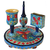 Havdalah Sets Painted Wood