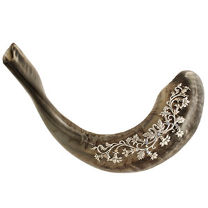 decorative & silver shofars shofar
